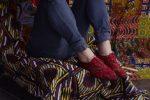 Les chaussures en tissus traditionnels africain sont à la mode
